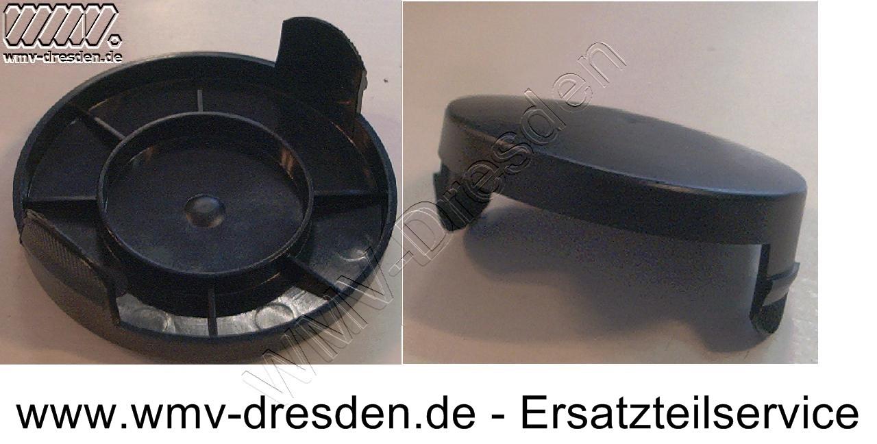 Fadenspulendeckel DV, kpl. >>>  geschlossen mit 2 Befestigungslaschen, Durchmesser 8,5cm <<<
