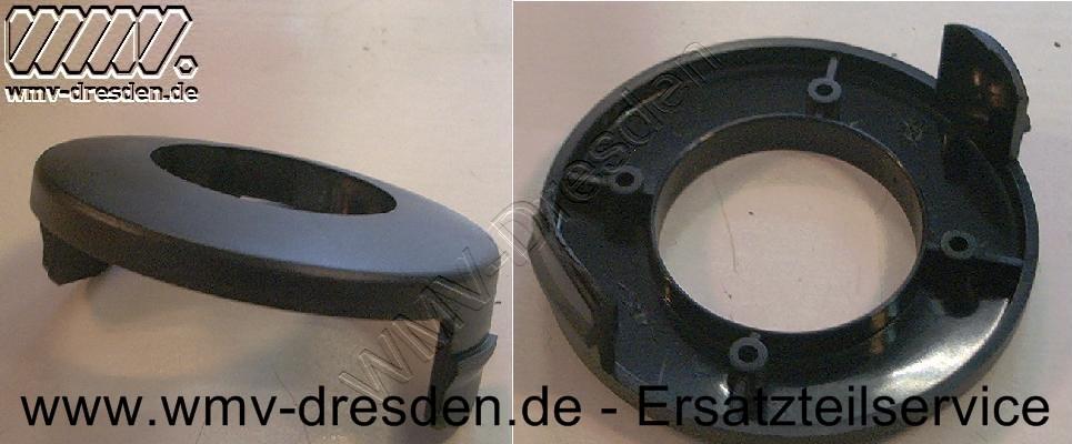 Fadenspulenabdeckung, 8 cm Durchmesser, mit 2 Befestigungslaschen