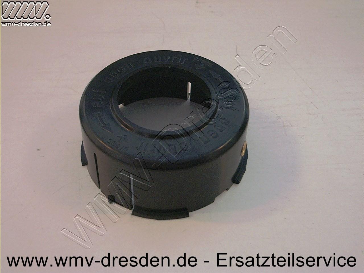 Fadenspulenabdeckung mit Fadenaustrittöse, 70mm Außendurchmesser