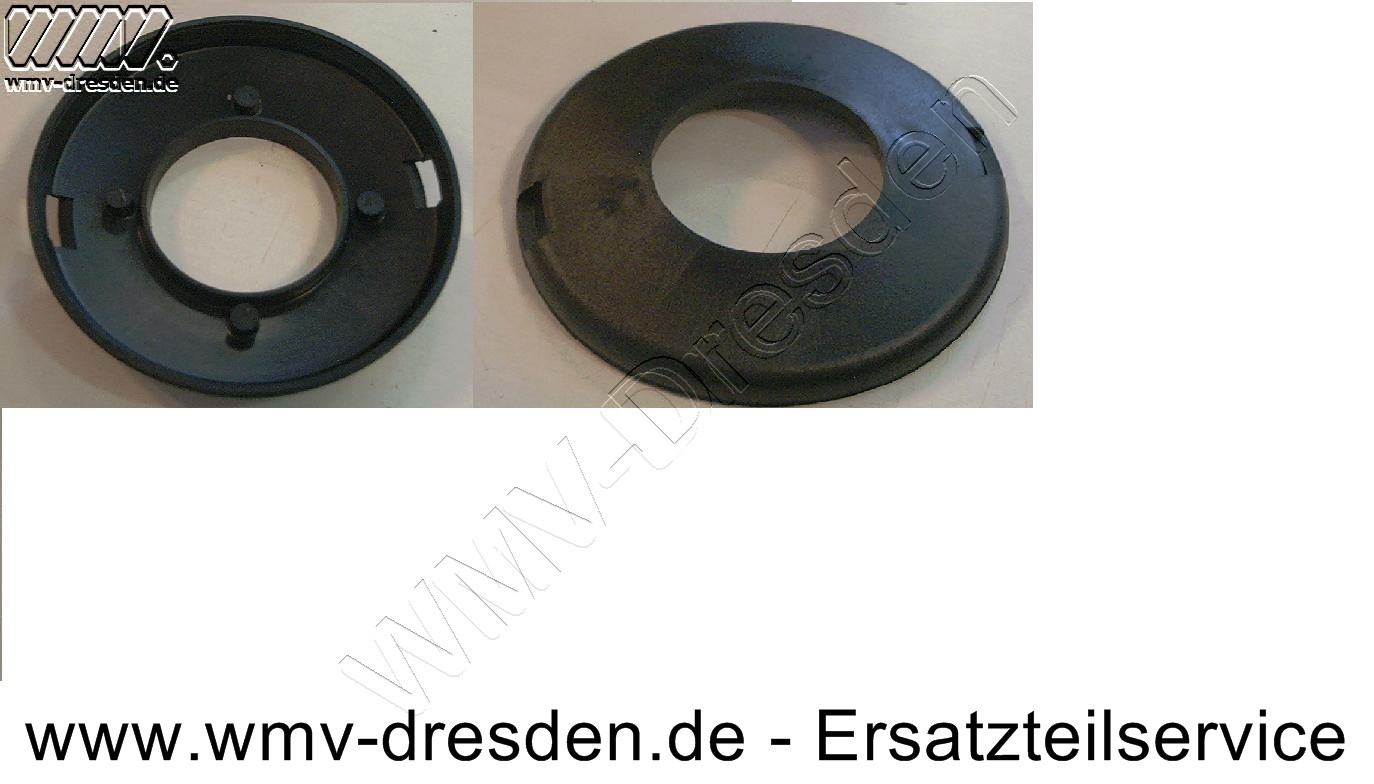 Fadenspulenabdeckung für Duo-Schneidkopf, 9,5 cm Durchmesser, ohne Befestigungslaschen