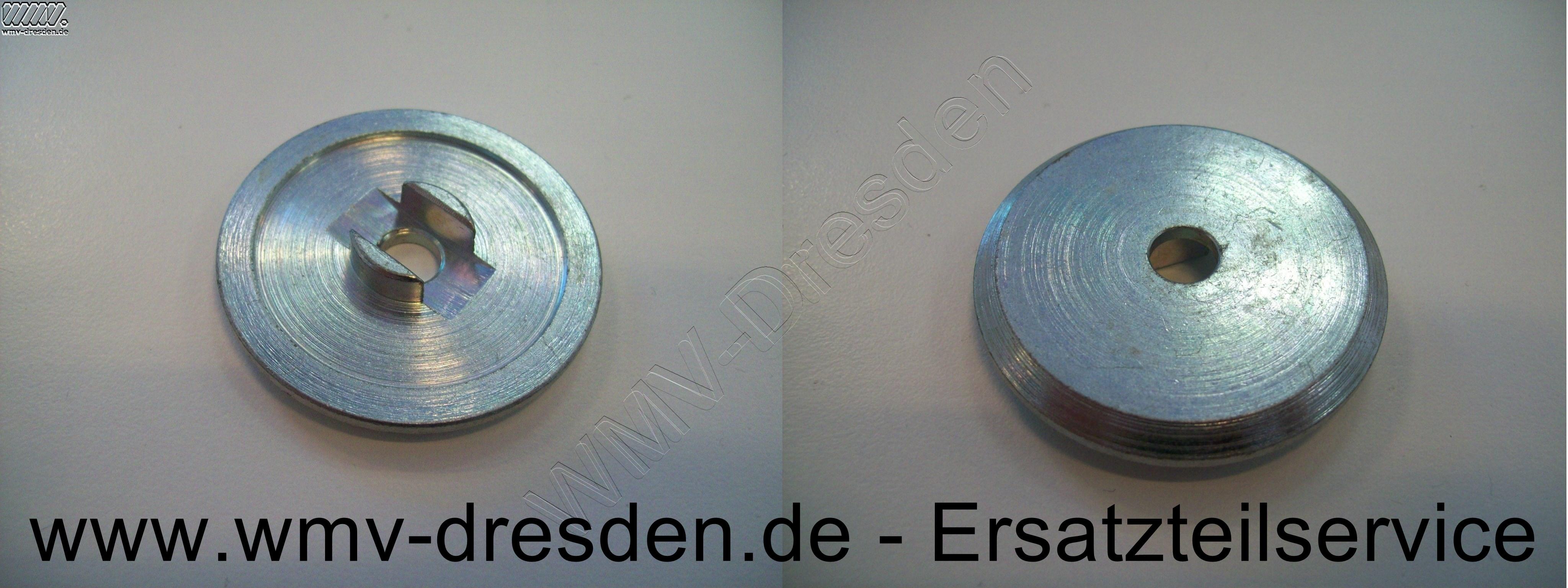 DRUCKFLANSCH  RD 50X9, Außendurchmesser 50 mm, Bohrung 8,1 mm, Ausfräsung 10 mm breit