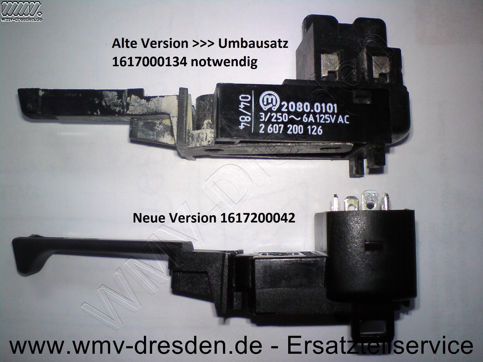 UMSCHALTER - neue Version, siehe Foto!!!