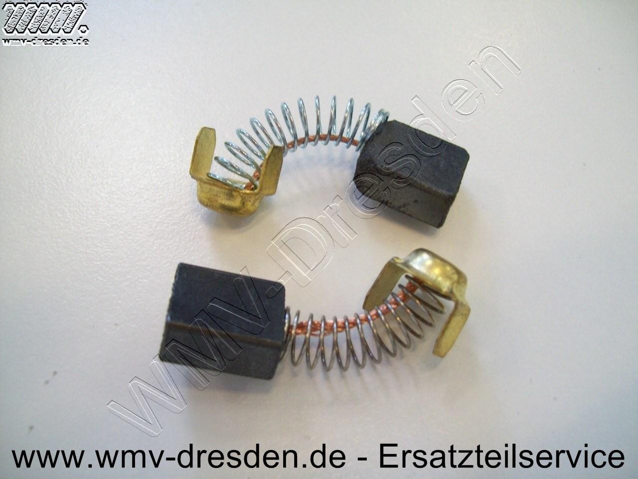 Kohlebürstenpaar alte Ausführung, bis Bj 09-2009, 13 mm breit, 6,9 mm dick, 14,5 mm lang, passend zu Bürstenkappe Ø15 mm