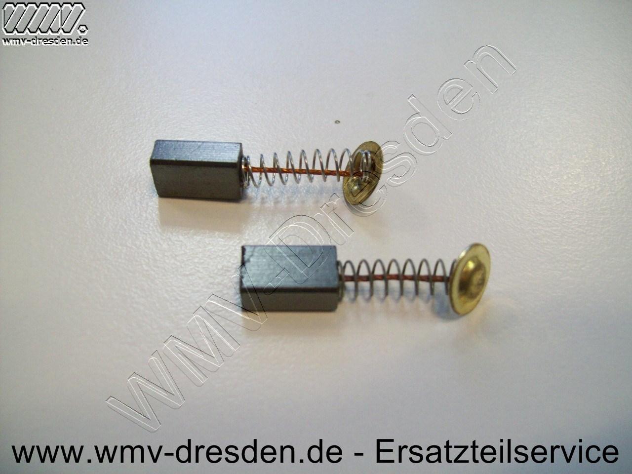 Kohlebürstenpaar - 7,8 x 5,0 x 12,5 mm, Litze/Feder 15 mm, Plättchen rund oder eckig