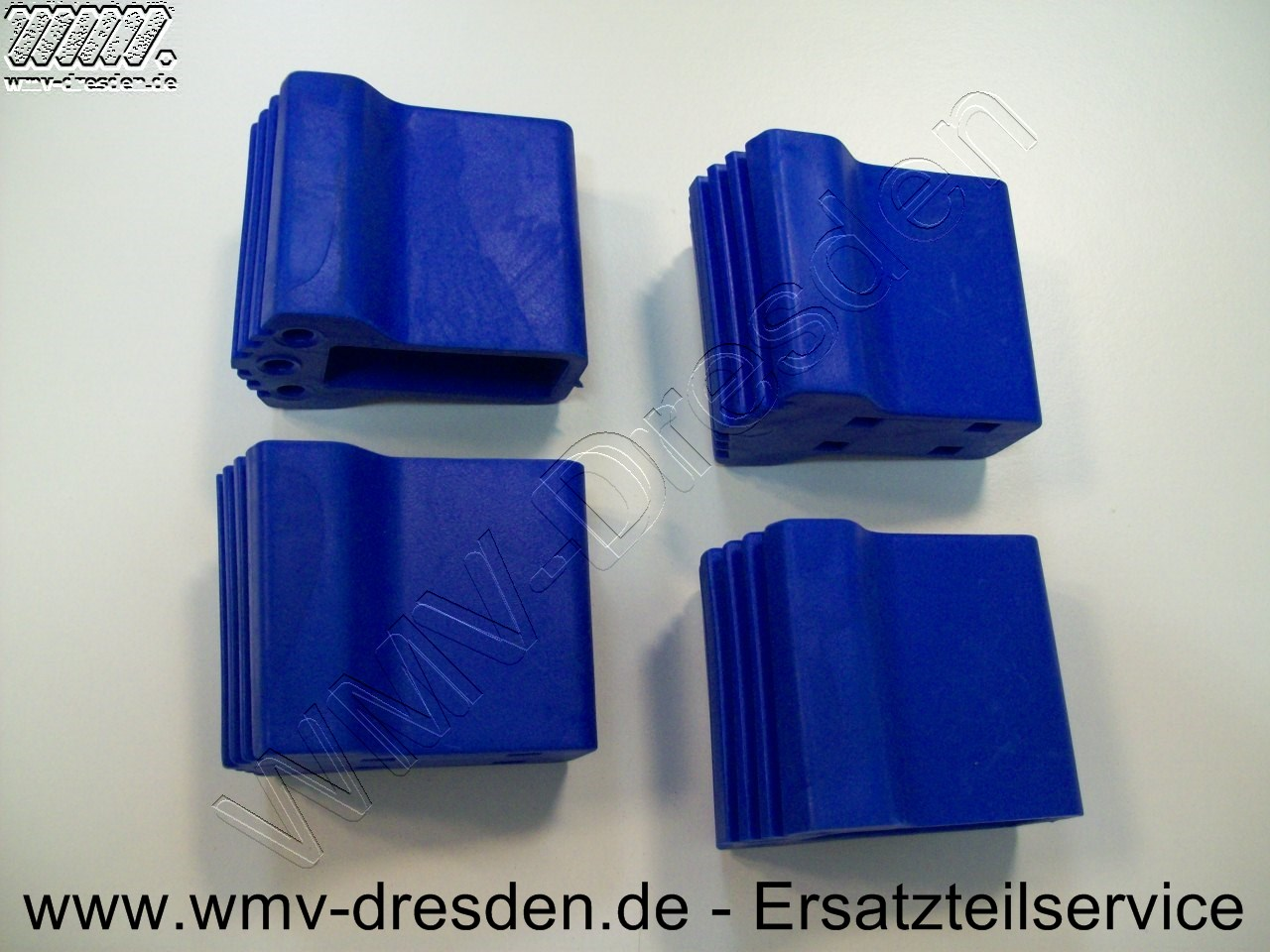 4er Satz Plastikschutzfüße für Vario 360 Leiter 6cm hoch, 7,5cm breit, Loch 2,3x5,1