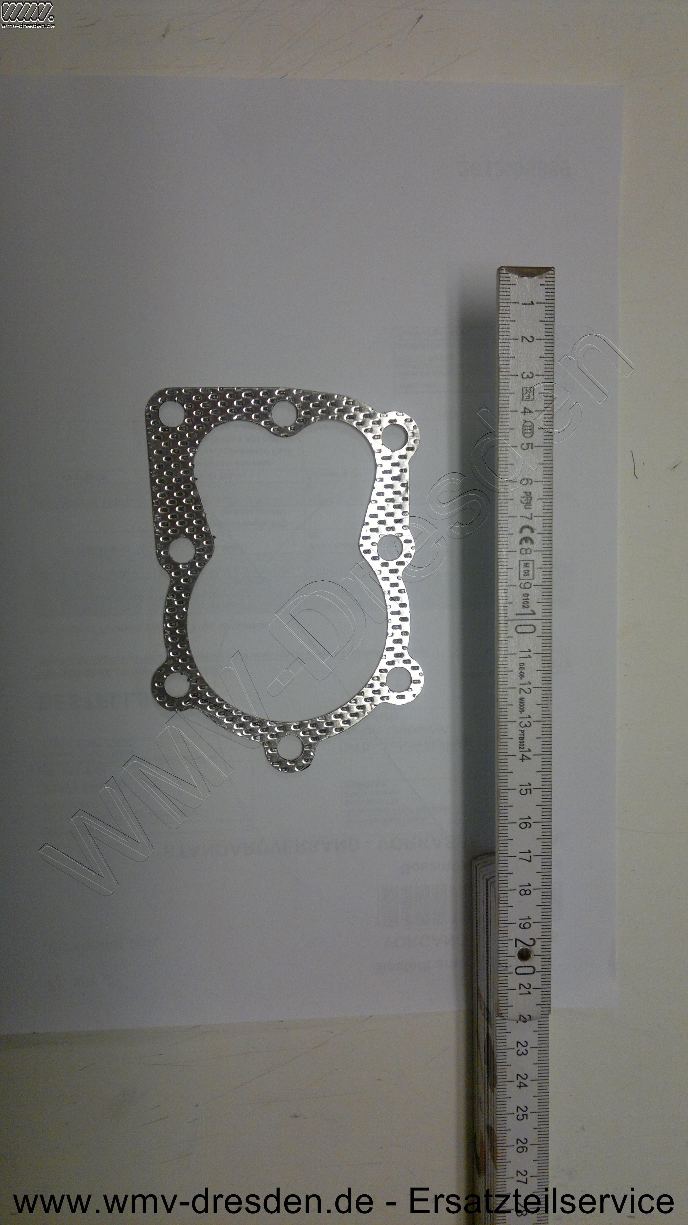 Dichtung für Zylinderkopf, Durchmesser der Kolbenöffnung ca 65 mm