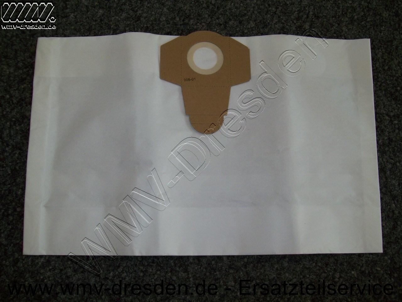Saugerbeutel Papier, 4er Pack für PNTS  30/4,  35/5,  30/9, 1400 A1, 1500 A1
