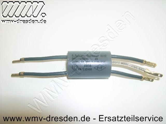 Kondensator X1Y 0,22µF >>>  rund, 5 Anschlüsse  <<<