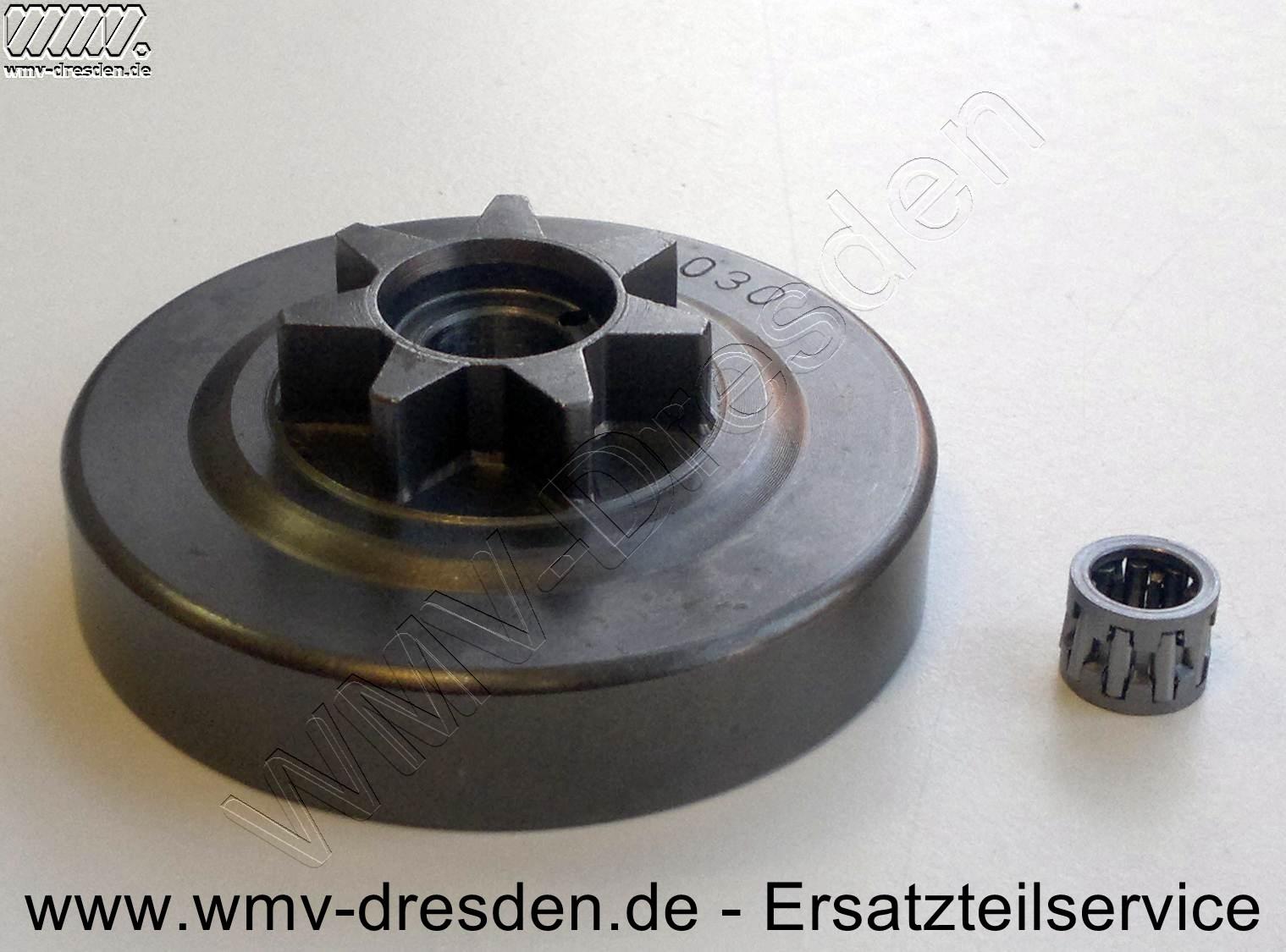 Kettenrad für Dolmar 103/105/108 - 3/8 Zoll, 7 Zähne inkl. Nadellager