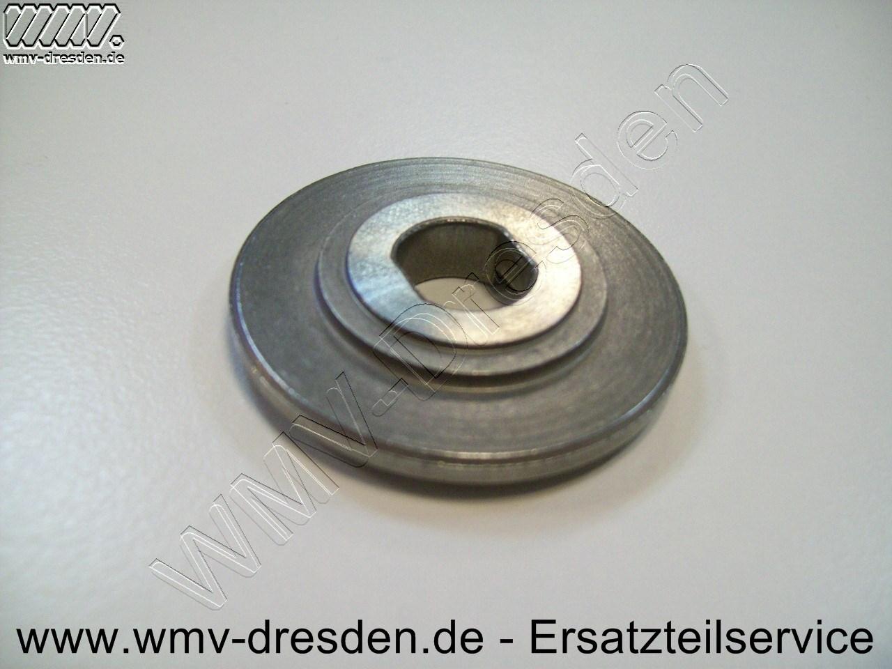 Flansch ATF 55 E, Rückseite mit zwei unterschiedlichen Durchmessern 21 mm und 26,5 mm - siehe Foto