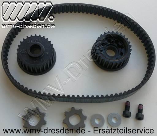 Riementrieb-Set >>> Antriebsrädern, Zahnriemen, Scheiben und Schrauben <<<