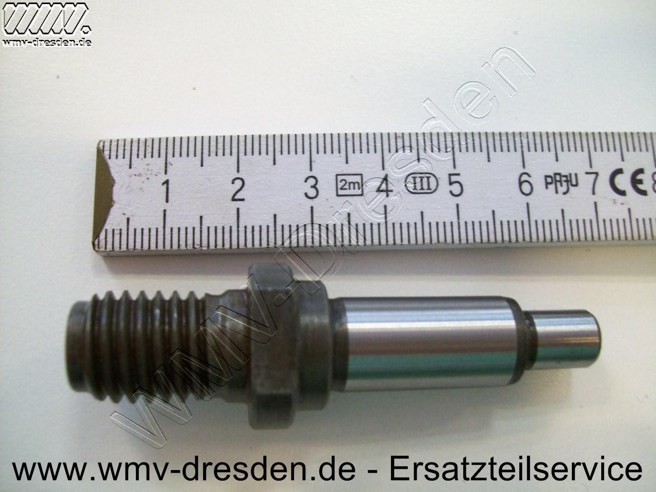 Spindel, Länge 67 mm, Zapfenlänge 11,5 mm, Durchm. 8 mm / Wellenlänge 24,4 mm, Durchm. 12 mm, Gewindeaussendurchm. 13,8 mm