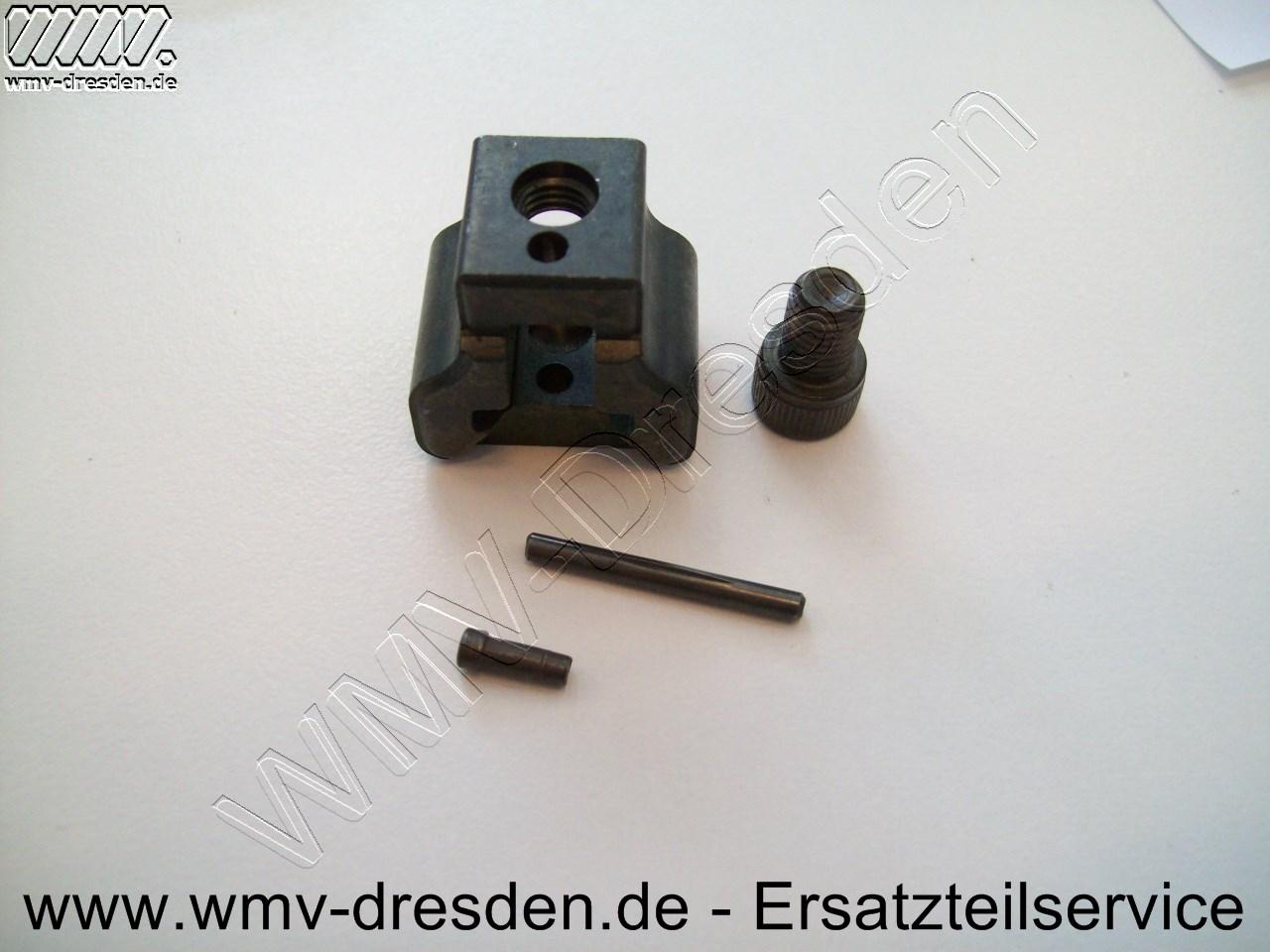 Blatthalter-Set für D 575 E >>>  beinhaltet Klemmblock, 1 Schraube und 2 Bolzen <<<