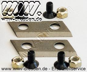 Flachmesser Kpl.. (2 Flachmesser, 4 Schrauben, 4 Muttern)