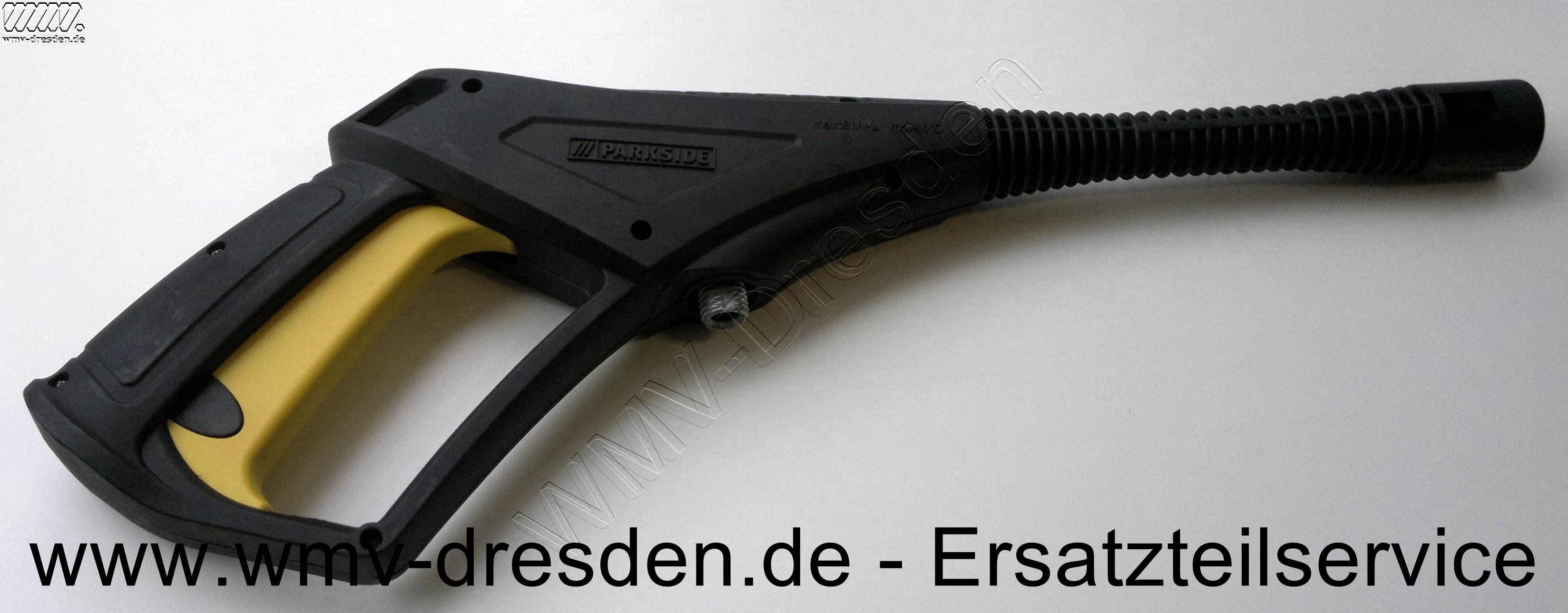 Spritzpistole PHD 150 A1 und PHD 150 B2-Anschlussgewinde AußenØ 15,4 mm, seitlich plan gefräst 13,4 mm, innere Öffnung 9,25mm