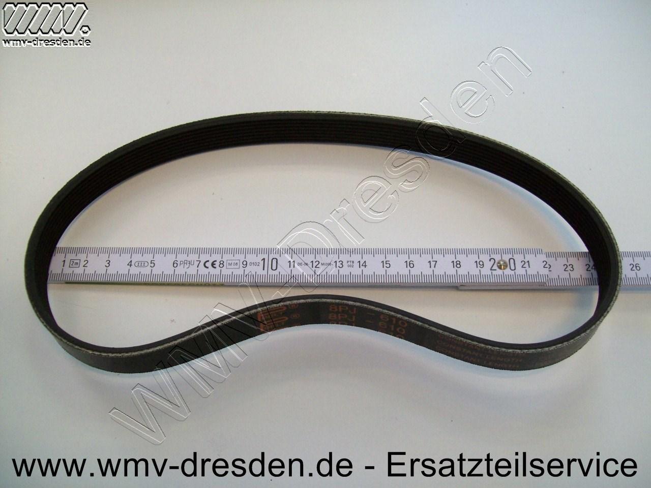 Längsillenriemen PJ8-610, 8 Rillen, 610 lang, 18,9 mm breit