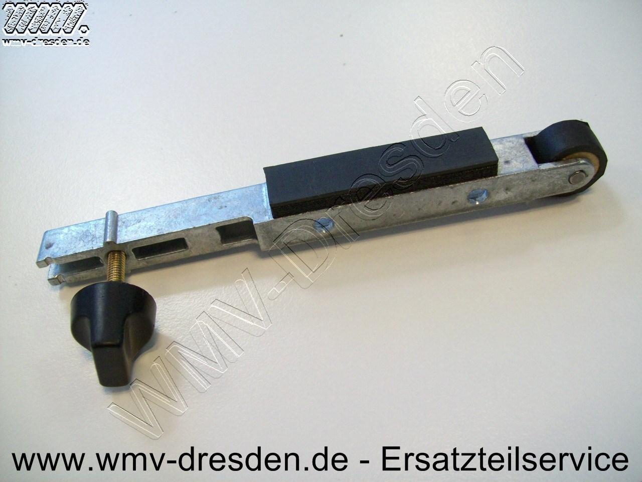 Arm, Breite 13 mm, Rollenbreite 9 mm, Länge 13 cm, inkl. Festellschraube und Gummiplatte 000821045
