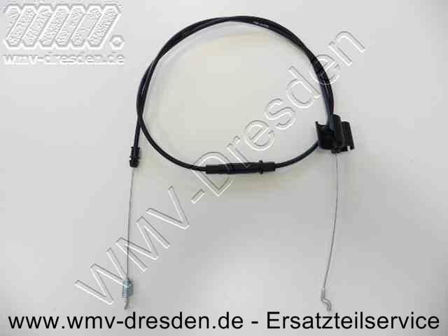 Bowdenzug für Radantrieb - Anschluss bedienseitig S-förmig, getriebeseitig mit Feder