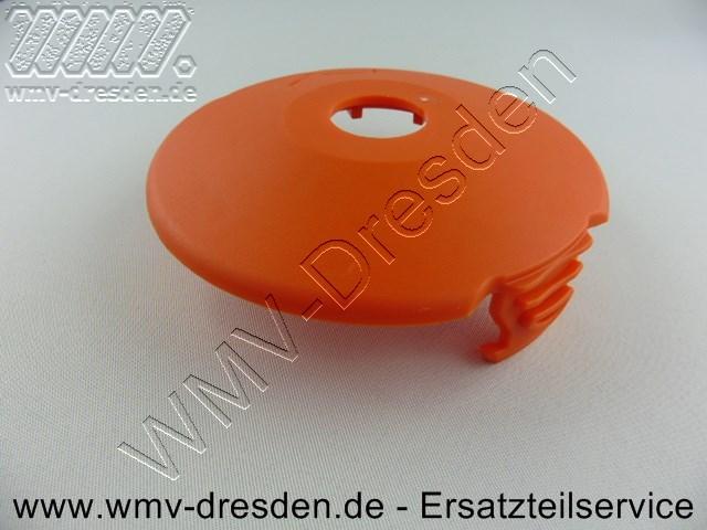 Fadenspulendeckel für Trimmerserie mit Artnr. 8848 ,8847,8846  mit Loch und 2 Laschen, Außendurchmesser 9,4 cm, Loch 19,5 mm