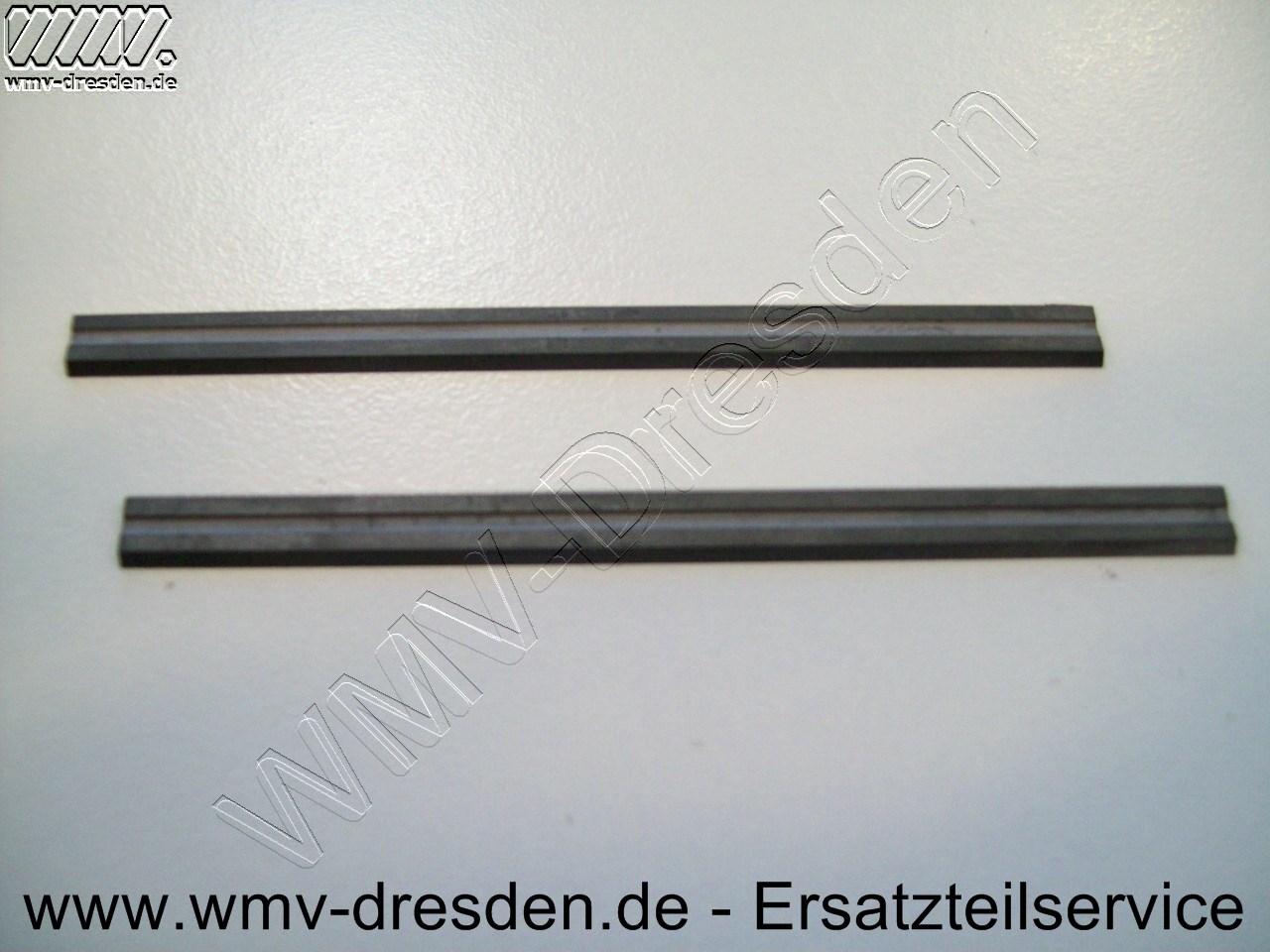 Hartmetall-Wendehobelmesserpaar 75,5 mm lang, 1,1 mm dick, 5,5 mm hoch, Führungsnut hinten (Rückennut)