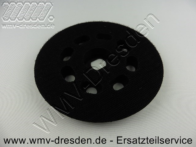 KLETT-SCHLEIFPLATTE FÜR BD 190 / 190 E /  190 S / KA 190 S /  190 E  /  SPEC 375 >>> RUND, D 12,5 CM, MITTELHART <<<