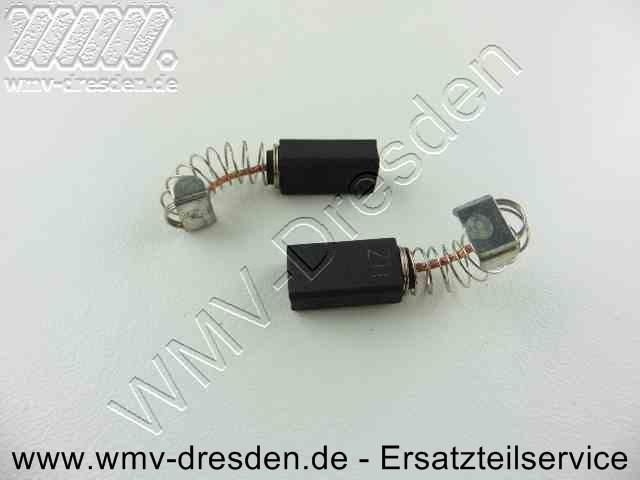 Kohlebuerstenpaar (8 x 5 mm, 14 mm lang, mit Litze, Feder und Schlusskappe, Litze und Feder ca. 13 mm lang)