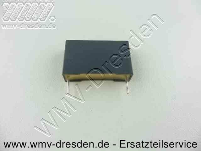 ENTSTOERKONDENSATOR, 0,22 mF, 26x16x7 mm, flach, 2 Anschlussdrähte 7 mm lang