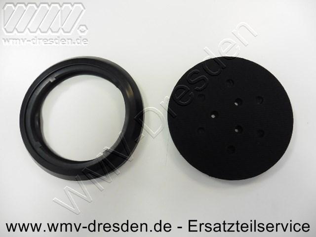 Klett-Schleifteller z.B. fuer: EX150/150 E, EXE450/450 E, TXE150, ROS150 E ( D 150 mm 3 Befestigungslöcher, 6 Absauglöcher )