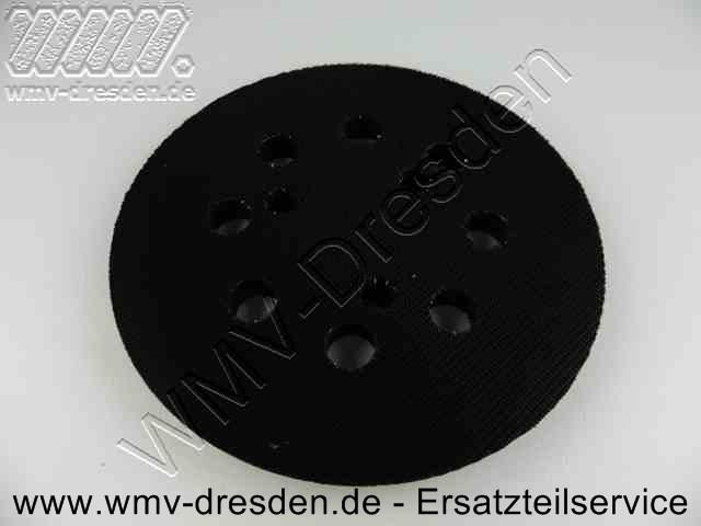 Klettschleifplatte D  120 mm, 8 Löcher