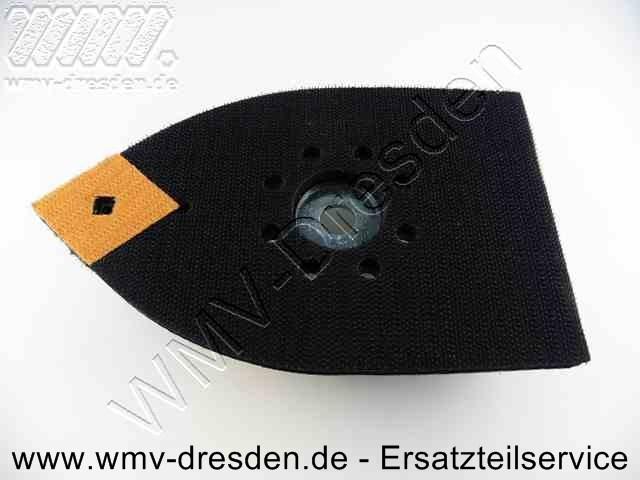 Klettschleifplatte mit 4 Vibrationsdaempfergummis