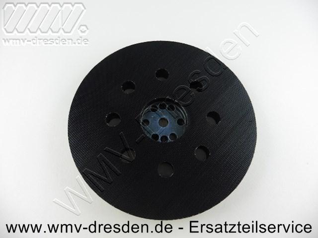 Schleifteller Klettverschluss, 125 mm, 8 Absauglöcher mit Befestigungsschraube