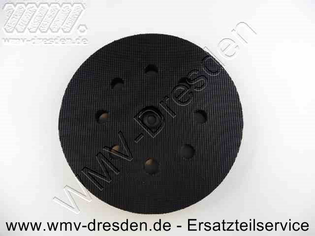 Klettschleifteller >>> D 120 mm, 8 Absaugloecher <<<
