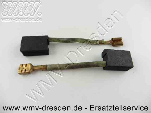 Kohlebuerstenpaar (14 x 8 mm, 20 mm lang, Anschlusskabel mit Steckschuh ca. 6 cm lang)