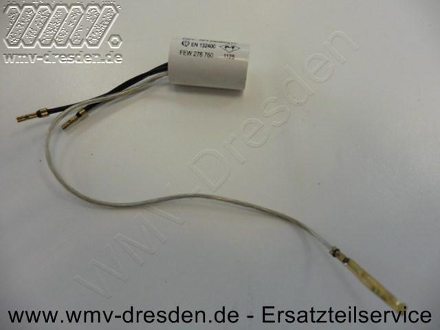 Kondensator rund, 0,2 mF, 3 Anschlusskabel - 2 kurz, 1 lang