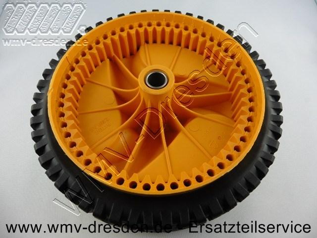 Antriebs-Laufrad schwarz/gelb, Durchmesser Außen 20 cm, Breite 4,4 cm, mit Innenverzahnung >>> ohne Kugellager <<<