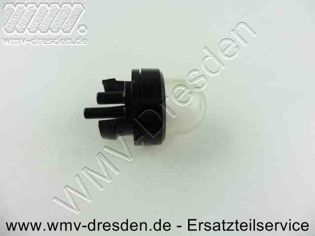 Primer / Benzinpumpe für Vergaser >>> 2 Schlauchanschlüsse auf Rückseite <<<