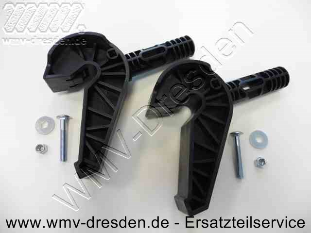 Reparatur-Kit mit 2 Lagerzapfen, 2 Schrauben, 2 Unterlegscheiben und 2 Muttern