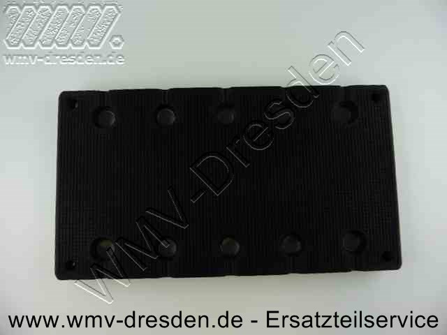 Schleifplatte 983002, rechteckig 210x115 mm für Schleifpapier ohne Klettverschluss, gelocht, SS 70 / SSPF / SS CA