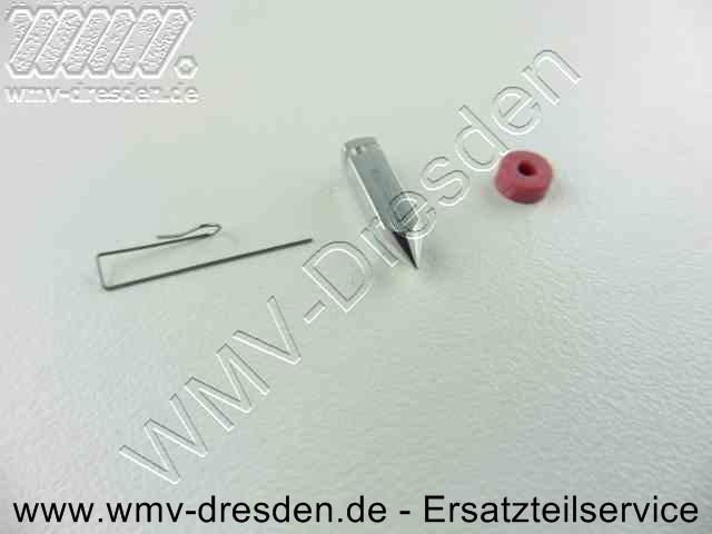 Schwimmernadel-Set  Nadel komplett metallisch, Spitze auch metallisch, beiliegend Gummirung und Feder