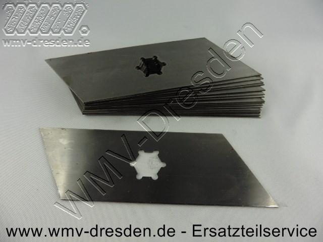 Vertikutiermessersatz >>>  17 Messer, L  166 mm,  Breite 1,0  mm  <<< ( Fuer L 155 mm bitte die 110.006.069-KYN bestellen )