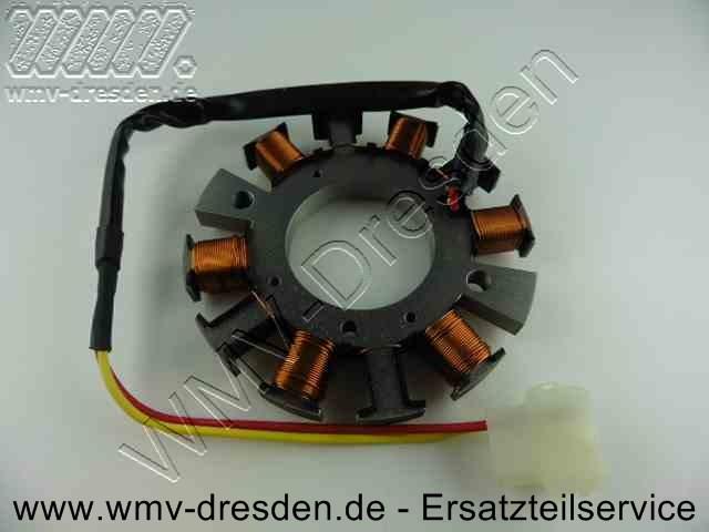 ZÜNDMODUL / Lichtmaschine, Außendurchmesser 113,8 mm, Innendurchmesser 47,8 mm, 6 gewickelte Zapfen, 4 ungewickelt, 2 Befest.