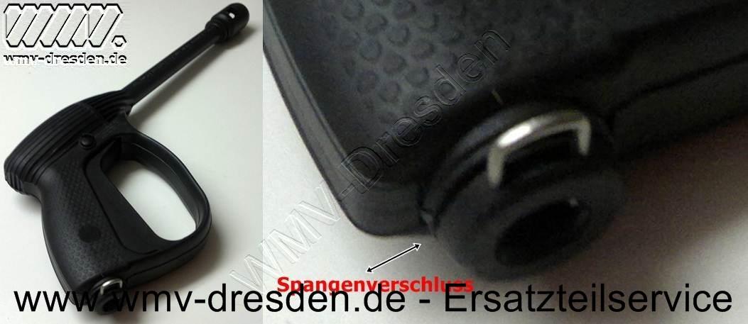 Pistole für Druckschläuche mit 10,75 mm Ø Anschlussstück