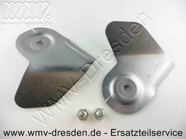 2er Pack Triplex-Messerklinge inkl. Schrauben >>> Ausführung in Vollstahl ohne Drahtgeflecht <<<